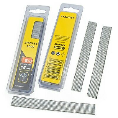£10.99 • Buy TWIN PACK (2000x) STANLEY 15mm BRAD NAILS STA0SWKBN050 USE WITH NAIL STAPLE GUN