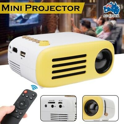 AU65.99 • Buy Mini Portable HD LED Projector Home Cinema Theater System PC Laptop Phone AUS