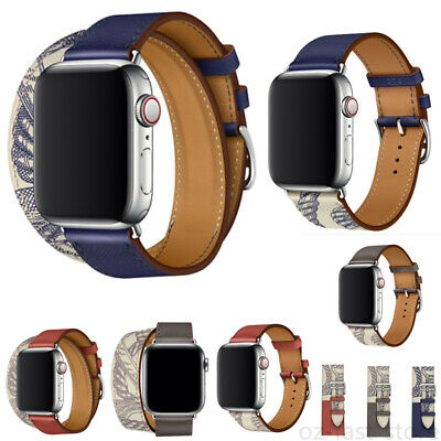 AU16.99 • Buy For Apple Watch Series 6 5 4 3 2 1 SE Leather IWatch Band Strap Bracelet Buckle