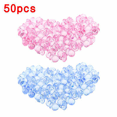 Baby Shower Party Favours Blue Pink Pacifiers Christening Party Cake Decorations • 2.39£