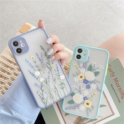 Case For IPhone SE 2020 XR 11 Pro XS Max X 7 8 Flower ShockProof SILICONE Cover • 3.99£