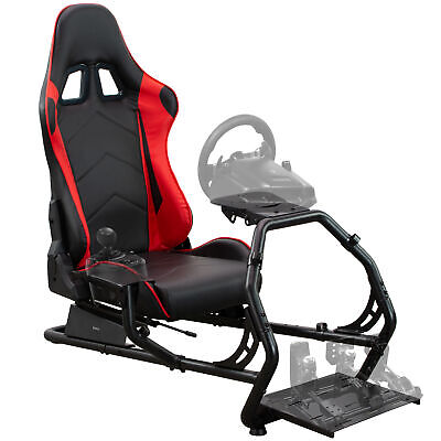 VIVO Racing Simulator Cockpit With Wheel Stand And Reclining Seat, Gear Mount • 234.07£