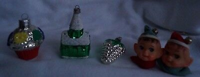 $ CDN24.99 • Buy Vintage Christmas Ornaments-Church- Elf Light Covers-Lot Of 5-Tree Ornaments