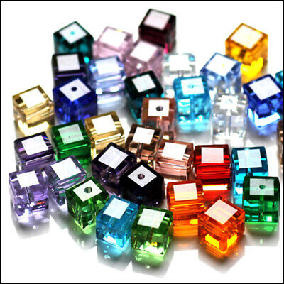 $ CDN10.52 • Buy Wholesale Cube Crystal Glass Loose Beads Fit Jewelry DIY Making 4mm 6mm 8mm