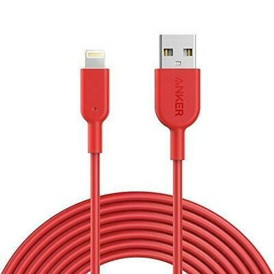 AU35 • Buy Anker PowerLine II USB To Lightning Charging Cable For IPhones IPads RED 3m