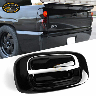 $10.99 • Buy Fits 99-07 Chevy Silverado GMC Sierra Black Overlay Tail Gate Handle Cover