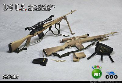 $29.99 • Buy COOMODEL COO US Military M14A1 & M14 Sniper Rifle Set 1/6