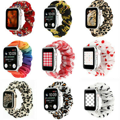 AU12.99 • Buy Scrunchie Elastic Watch Straps Watchband For Apple Watch Band Series 6 5 4 3 2 1