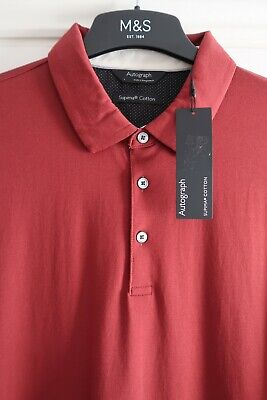 Mens Polo Shirt M&s Autograph Bnwt Size Small Large Or Xl Rrp £25 Long Sleeved  • 12.95£