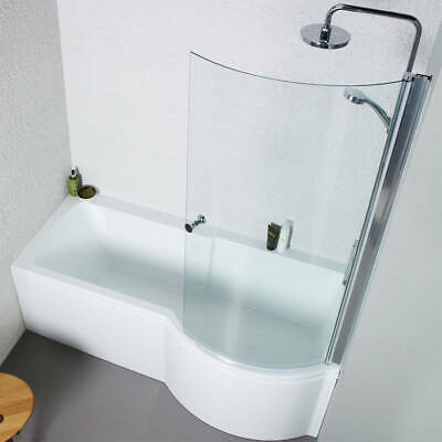 P Shaped Bath & Shower Screen • 250£