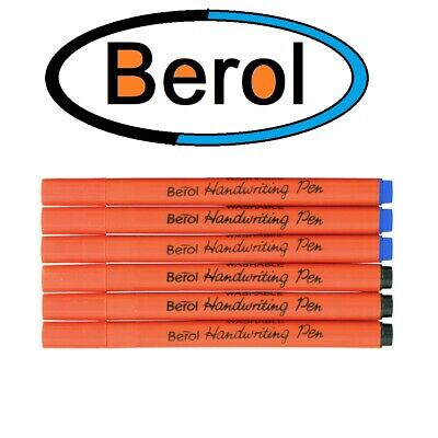 6 X Berol Handwriting Pens - Available In Blue Or Black  • 1.99£