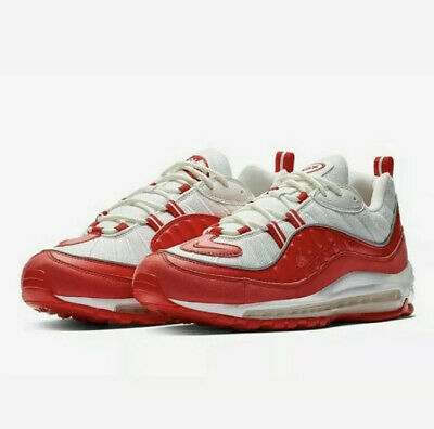 """$109.95 • Buy Nike Air Max 98 """"University Red"""" Running Shoes 640744 602 Men's Size 9 New"""