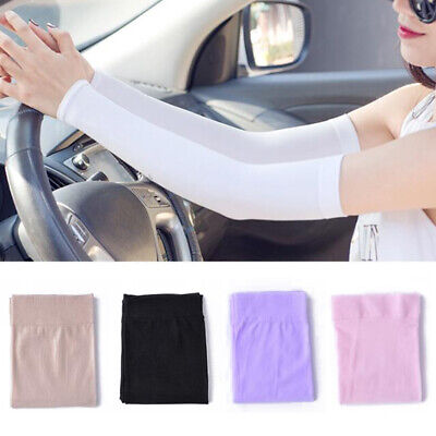 Men Women Arm Sleeves Summer Sun UV Protection Outdoor Driving Arm Covers UK • 1.96£