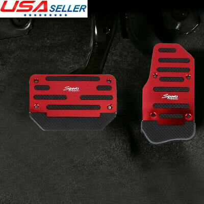 $9.19 • Buy Universal Red Non-Slip Car Automatic Gas Brake Foot Pedal Pad Cover Accessories