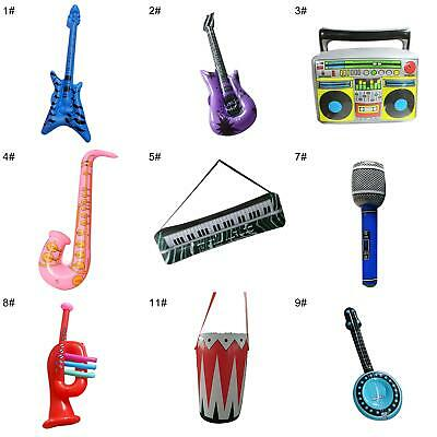 £3.63 • Buy PVC Inflatable Guitar Microphone Lute Musical Instrument Kids Party Props Toy