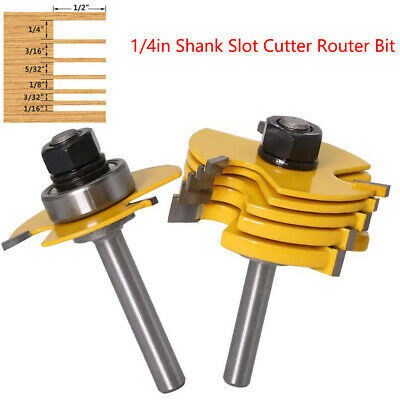 £22.45 • Buy 1/4'' Shank Slot Cutter 3 Wing Joint Slot Cutter Jointing Slotting Router Bit