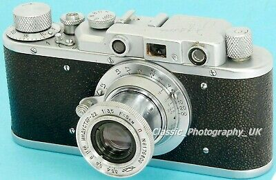 Zorki IB / 1b - 35mm Rangefinder Camera Made In 1949 + Industar-22 1:3.5 F=5cm • 165.12£