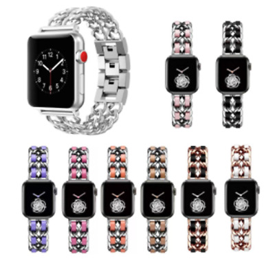 AU16.99 • Buy For Apple Watch Band 38mm 42mm 40mm 44mm Leather Stainless Steel Strap Bracelet