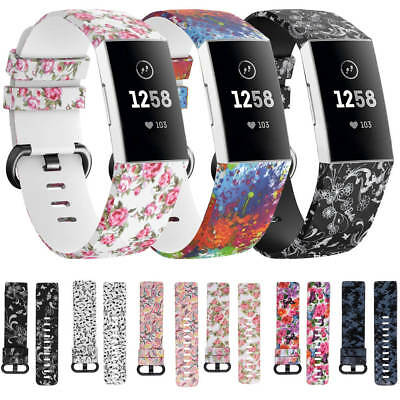 AU11.99 • Buy For Fitbit Charge 4 3 / 3 SE Watch Strap Replacement Silicone Sport Wrist Band
