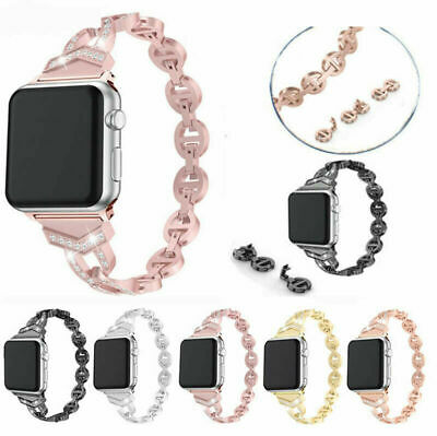 AU15.99 • Buy For Apple IWatch Series 65/4/321 Stainless Steel Bracelet Wrist Band Strap Bling