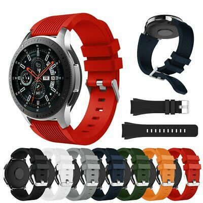 AU9.99 • Buy For Samusng Galaxy Watch Band 46/42mm Silicone Sport Band Replacement Soft Strap