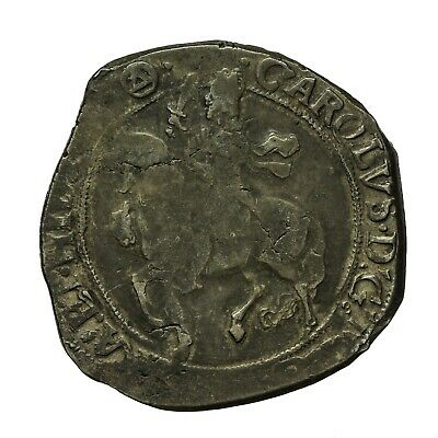 Charles I Hammered Silver Halfcrown  Mm Triangle In Circle  S2779 • 160£