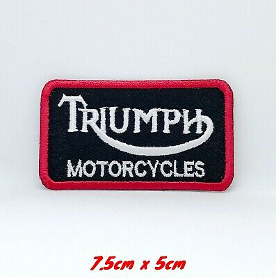 Triumph Motorcycles Biker RockerEmbroidered Iron Sew On Patch #122 • 1.79£