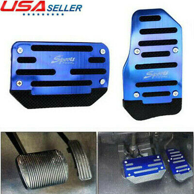$9.39 • Buy Universal Blue Non-Slip Automatic Gas Brake Foot Pedal Pad Cover Car Accessories