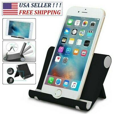 $4.28 • Buy Universal Foldable Cell Phone Desk Stand Holder Mount Cradle For IPhone Tablet