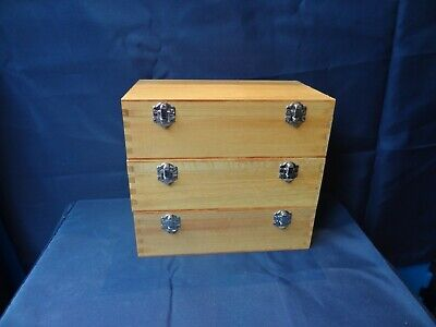 3 Large Wooden Coated Storage Box Display Accessories Storage Box New • 16.50£