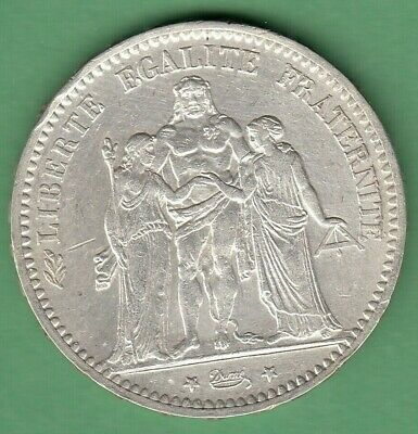 $ CDN25 • Buy 1874 France 5 Francs Silver Coin - Cleaned