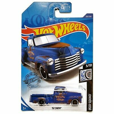 AU5.40 • Buy Hot Wheels 201/250 - 2020 Rod Squad 3/10 - Blue '52 Chevy Pickup Truck GHD24