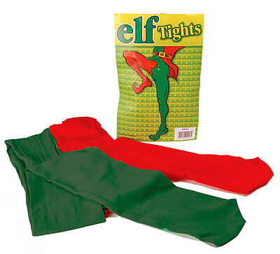 Adult Elf Tights Red Green Jester Fancy Dress Medieval Christmas NEW • 6.99£