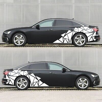 $19.70 • Buy Mixed Size Triangles Design Car Truck Body Stickers Side Decals Vinyl Graphics