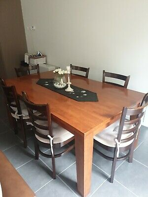 AU200 • Buy 6 Seater Wooden Dining Table | Comes With Chairs | Local Pickup Only