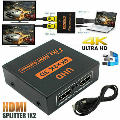 1 INPUT 2 OUTPUT 1 IN 2 OUT 2160p HDMI SPLITTER 2 WAY SWITCH BOX HUB 4K 3D UHD  • 6.48£