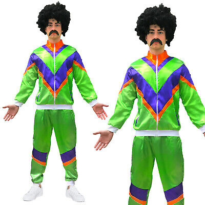 Mens Adult Retro 80s Scouser Shell Suit Fancy Dress Costume Tracksuit Stag Do  • 17.99£