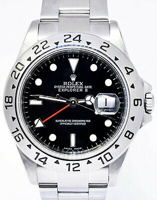 $ CDN10800.87 • Buy Rolex Explorer II Stainless Steel Black Dial Mens 40mm Automatic Watch Z 16570 T
