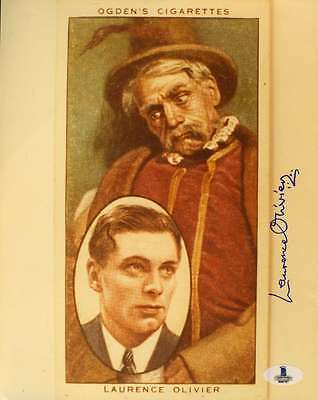 Laurence Olivier Bas Beckett Authentication Cert Signed 8x10 Photo Autograph • 91.69£