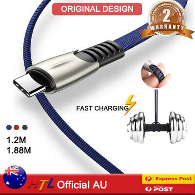 AU5.59 • Buy USB Charging Cable Data Cord Charger For IPhone Lightning Samsung Type C Micro