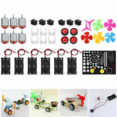 6Set DC Motor Kit Mini Electric 1.5-3V For Electric Toys Science Experiments DIY • 11.55£
