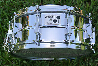 $809.95 • Buy Rare 1979 Sonor-phonic D505 Ferro-manganese 5-3/4x14 Snare Fr Your Drum Set F490