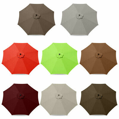 Replacement Fabric Garden Parasol Canopy Cover For 300cm Umbrella • 25.61£