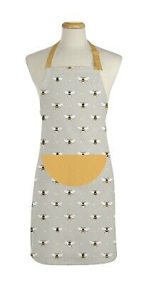 £7.99 • Buy Full Adult Apron Countryside Kitchen Bee Design 100% Cotton Cooking By East2eden