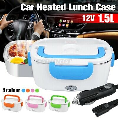 AU26.49 • Buy 12V Portable Car Electric Heated Lunch Box Heating Bento Food Warmer Container