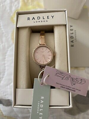 $23.60 • Buy Radley Ladies Stainless Steel Bracelet Watch Rose Gold Brand New With Tags