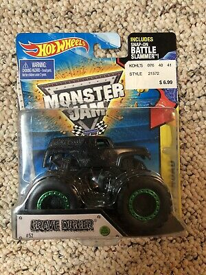 $99 • Buy Hot Wheels Monster Jam Grave Digger Off Road Black Out Special Edition 2015 #52