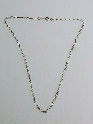 $50 • Buy Tiffany & Co Fancy Oval Marquise Link Chain Necklace Sterling 925 Silver 16