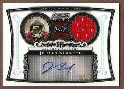 $0.99 • Buy 2006 Bowman Sterling Jerious Norwood Certified Auto Autograph Rookie Jersey