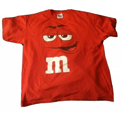 $8 • Buy M&Ms Vintage Shirt Mens L Embroidered Tag Great Condition Red Clean Candy